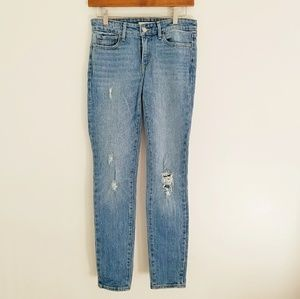 Levi's 711 Skinny Jeans Distressed Size 25